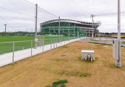 サッカー場/芝散水用貯水槽